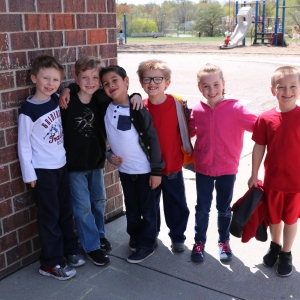 Elementary students at recess